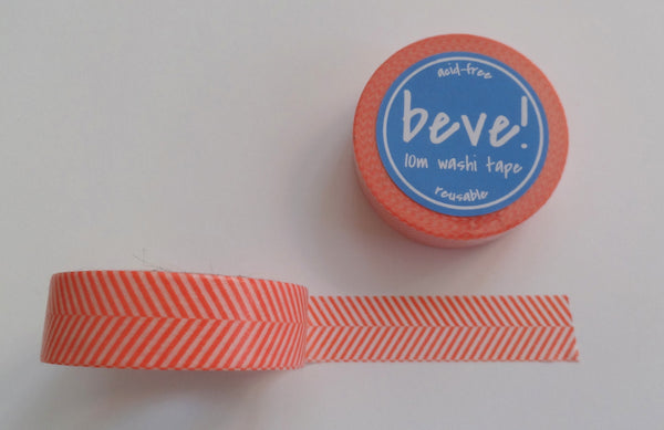 Coral herringbone chevron like washi tape.