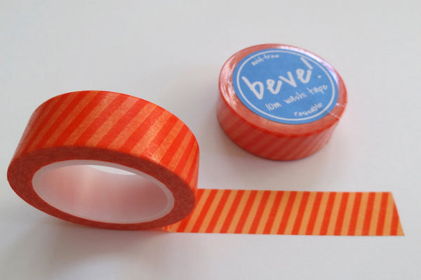 Orange striped washi tape.