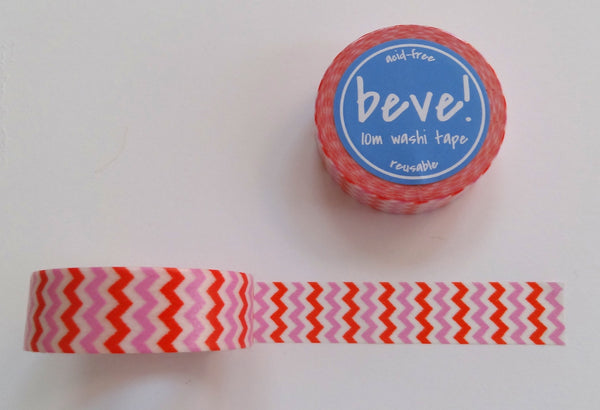 Pink and orange chevron washi tape.