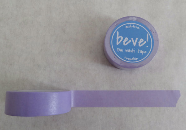 Solid radiant orchid lavender washi tape.