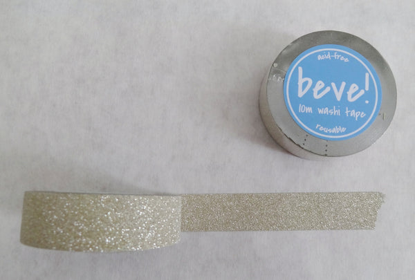 Glitter tape in a light gold or silver - it works for both!