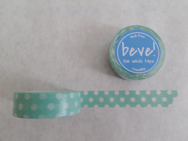 Mint and white washi tape.