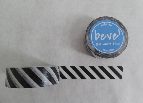 Black striped washi decorative tape.