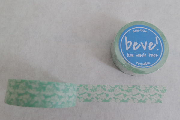 Mint floral washi tape.