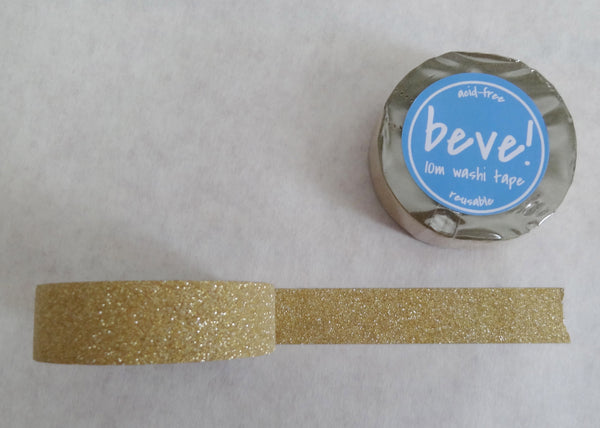 Gold glitter tape is one of our best sellers. Perfect for a gold wedding invitation!