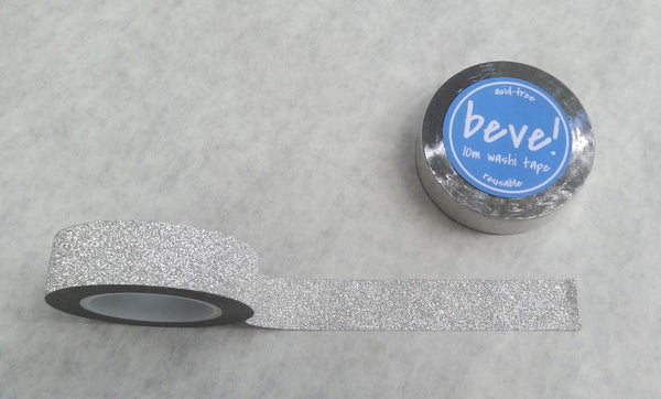 Silver glitter tape is super fun!