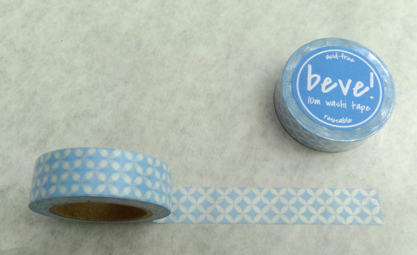 beve petal pattern washi tape in light blue.