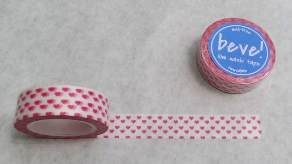 Hot pink heart washi tape.