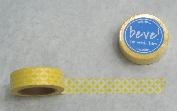 Yellow patterned washi tape.