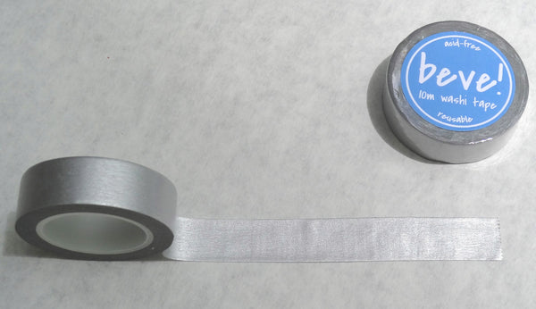 Solid silver metallic washi tape.