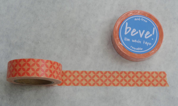 Coral circle pattern washi tape.
