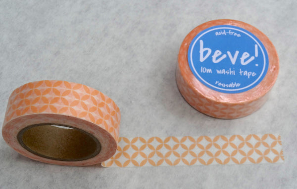 Coral petal pattern washi tape.