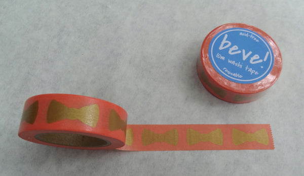 Gold and coral wedding decoration washi tape.