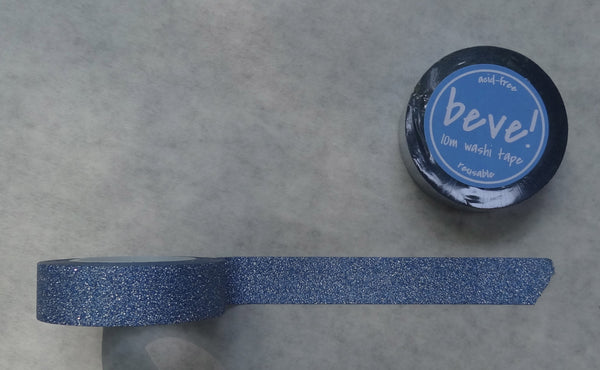Glitter washi tape in blue.