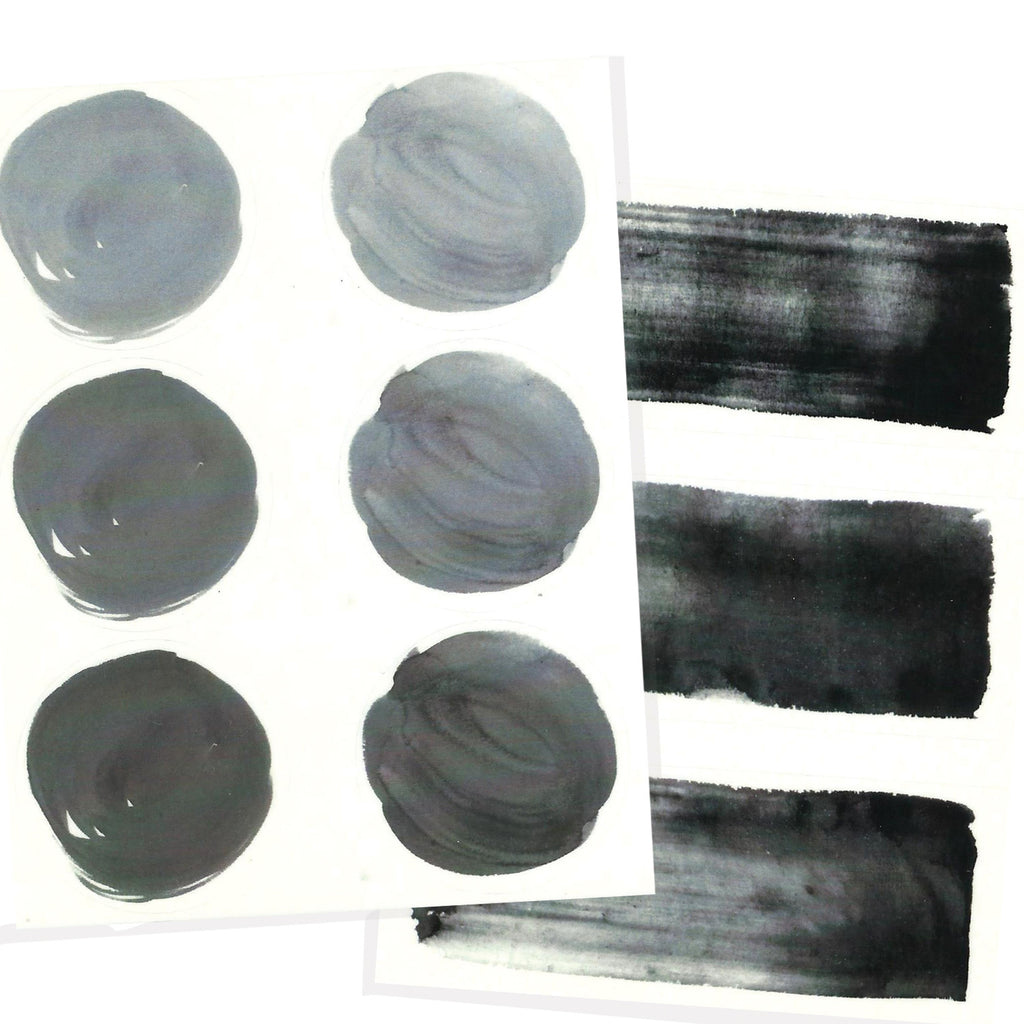 Black ink water color letter seals.