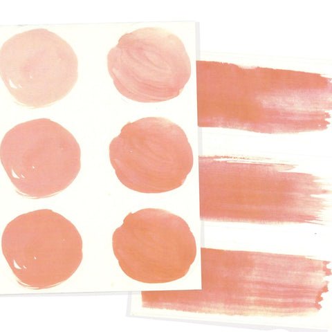 Water color letter seals in coral for a coral wedding invitation suite.