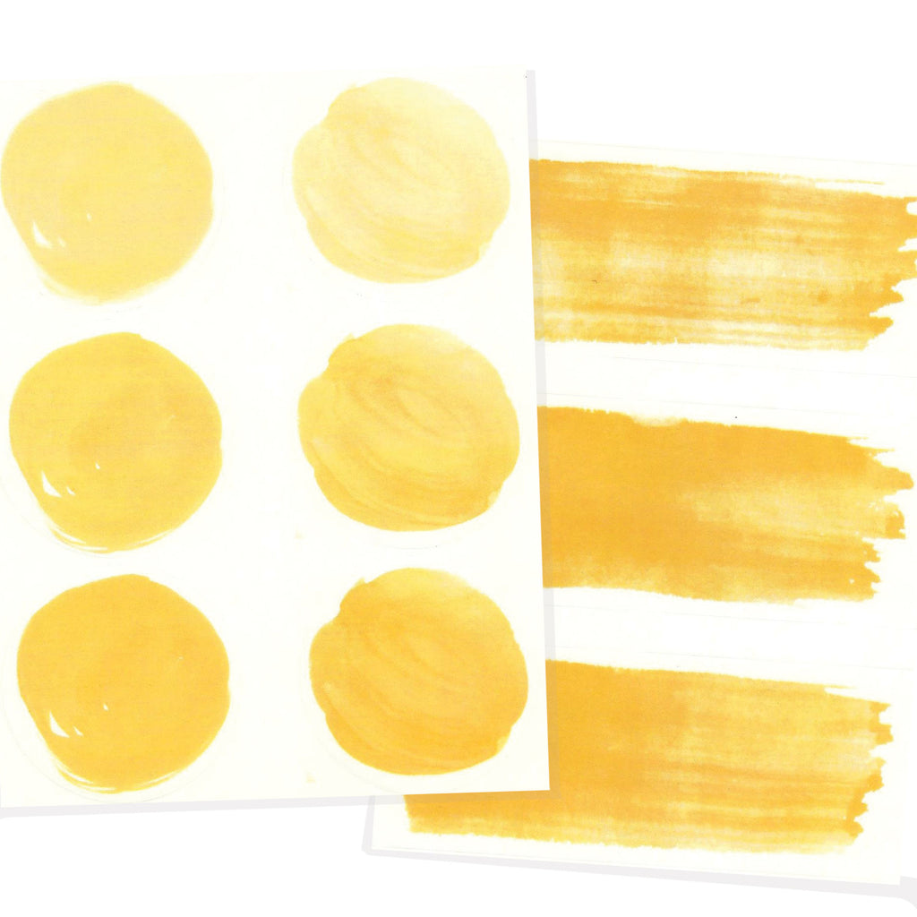 Yellow watercolor letter seals.
