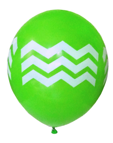 Green Chevron Balloons