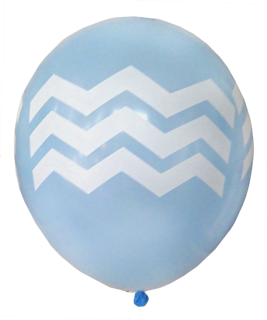 Blue Chevron Balloons