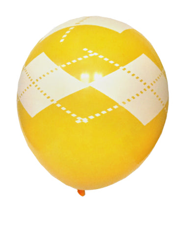Golden Yellow Argyle Balloons