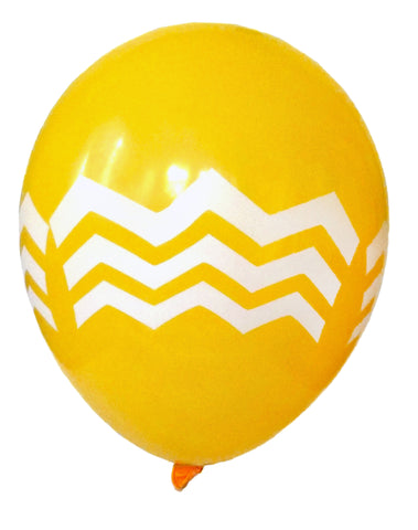 Golden Yellow Chevron Balloons