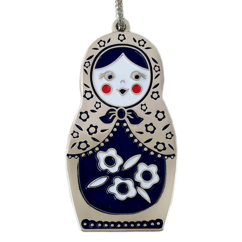 Matryoshka Doll Enamel Ornament