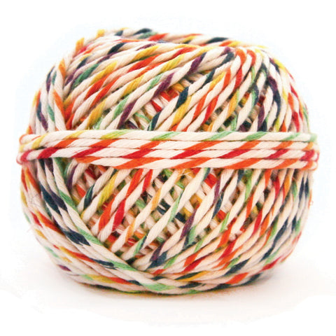 Rainbow and White Hemp Gift Cord