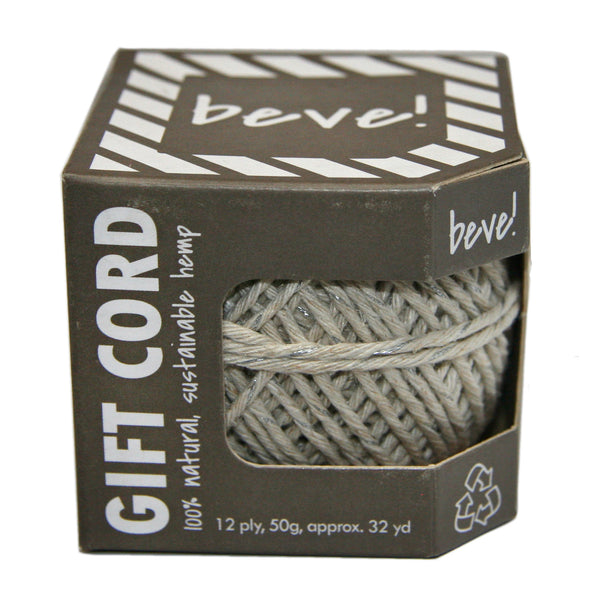 Silver and Natural Hemp Gift Cord