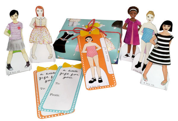 Paper Doll Gift Tag Set