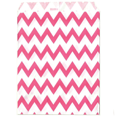 Hot pink chevron party bags.