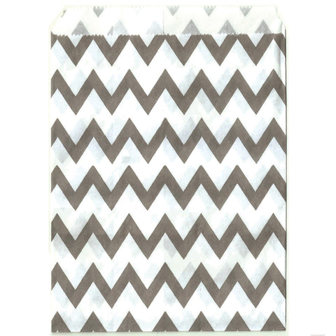 Gray chevron party baggies.