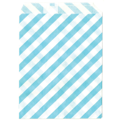 Light blue striped treat sacks