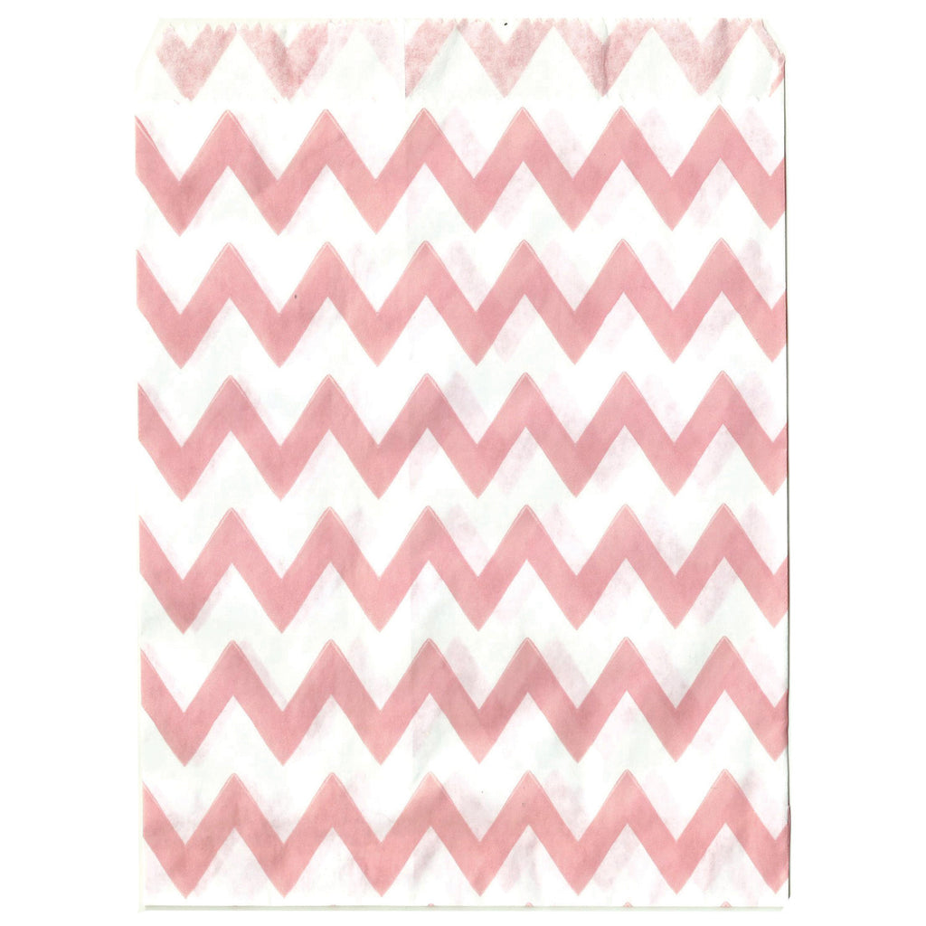 Light Pink Chevron Party Bags