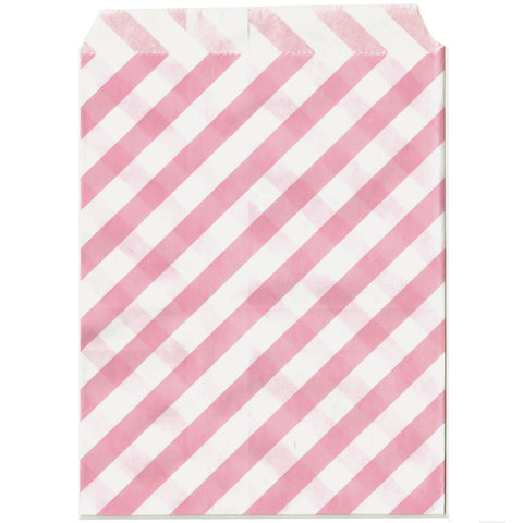 Party bags in light pink stripes.