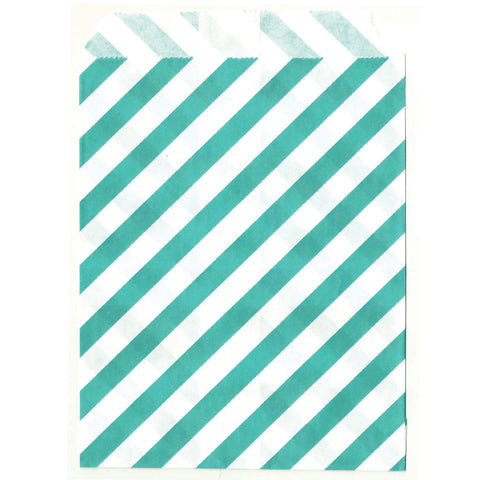 Mint wedding favor bags.
