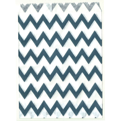 Navy  chevron party d_cor bags.