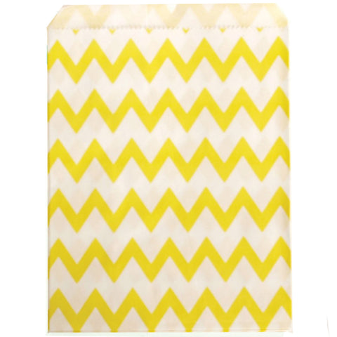 Yellow Chevron Party Bags