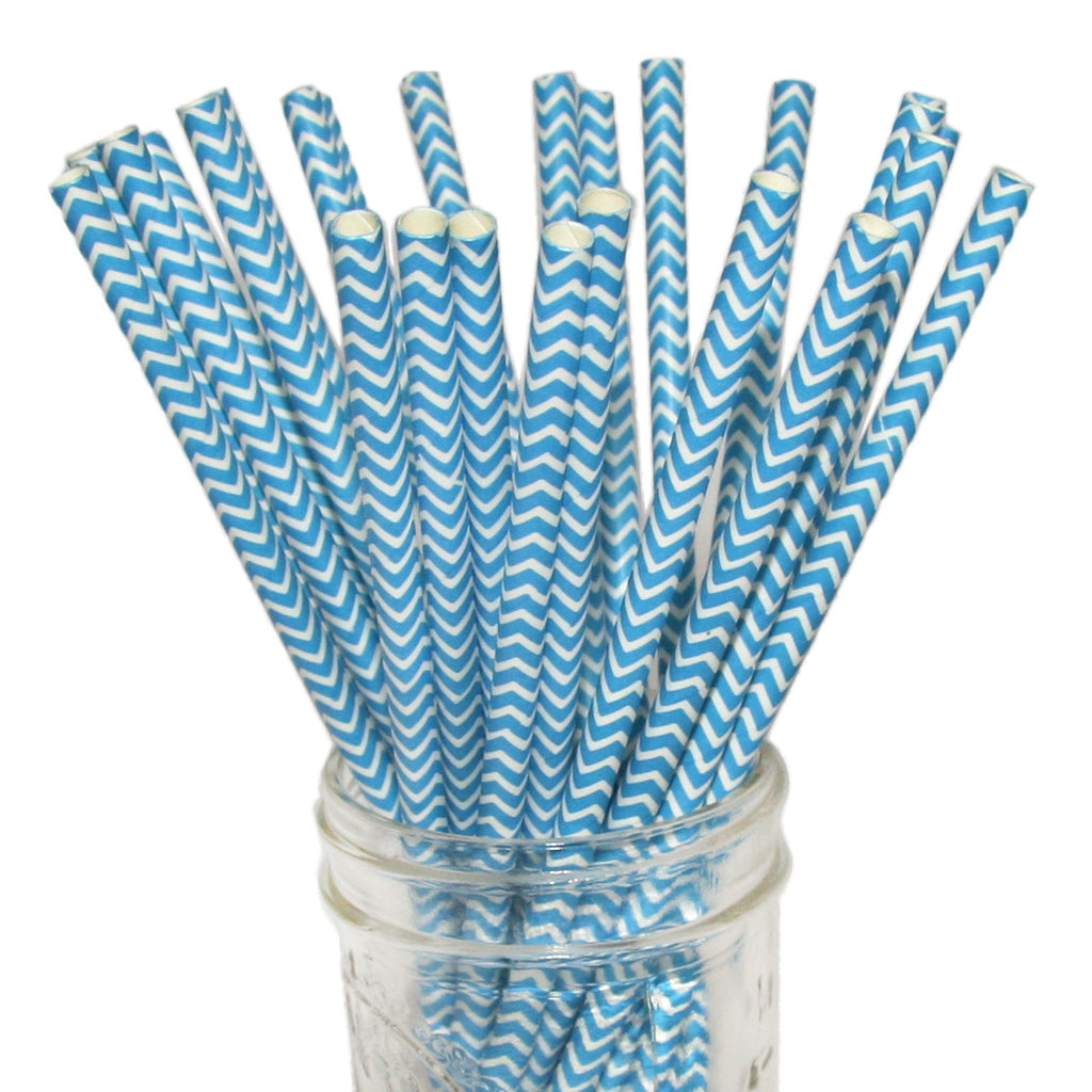Chevron paper straws perfect for graphic wedding d_cor.