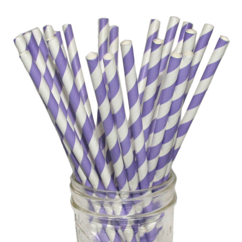 Light purple party straws.