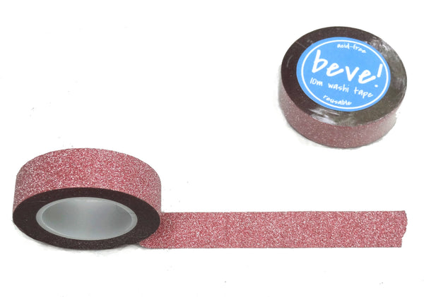 Rose Pink Glitter Washi Tape