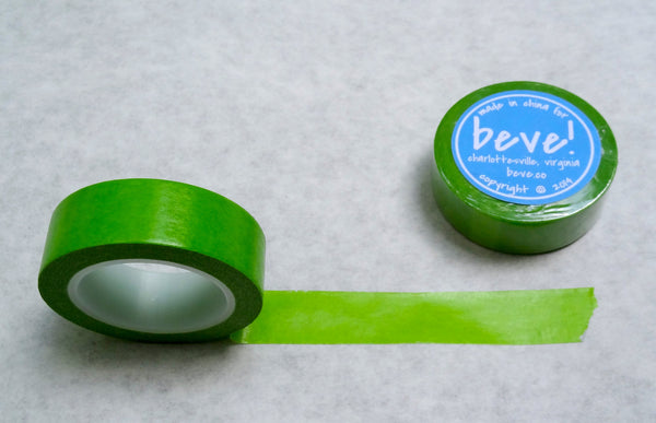 Solid Bright Green Washi Tape