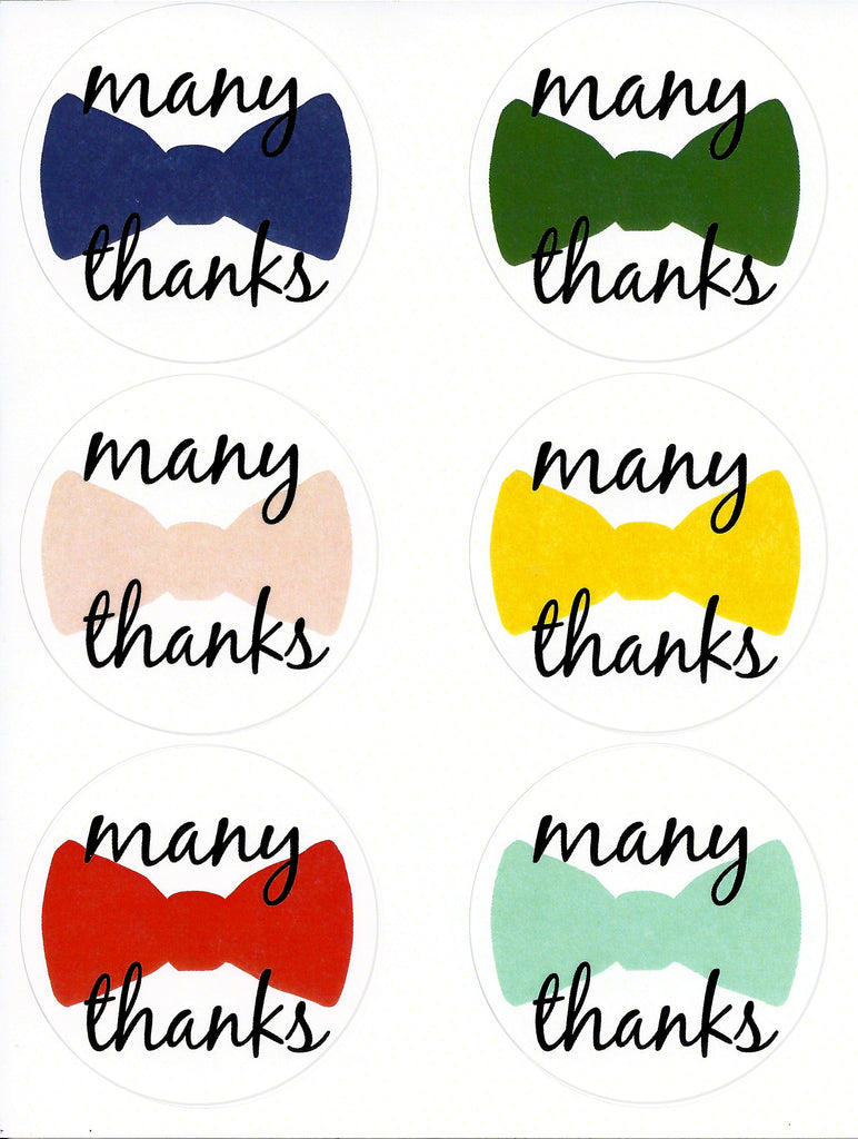 Many Thanks Letter Seal Stickers