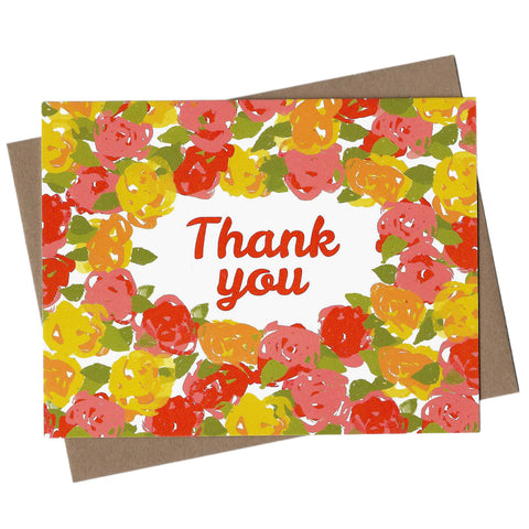 Vintage Floral Thank You Note Set
