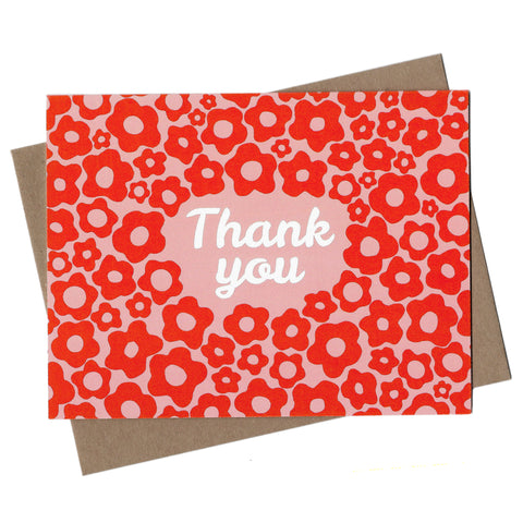 Mod Floral Thank You Note Card