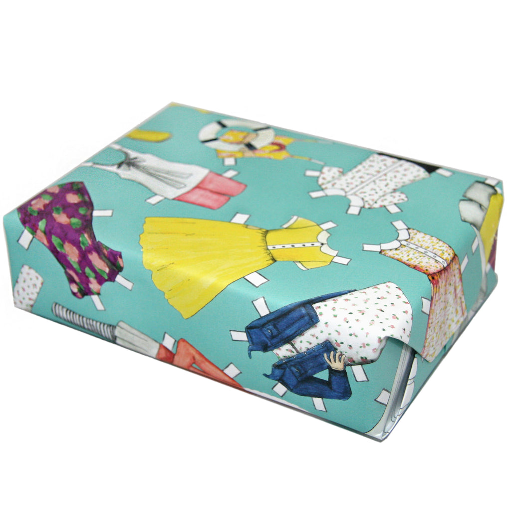 Paper Doll Gift Wrap