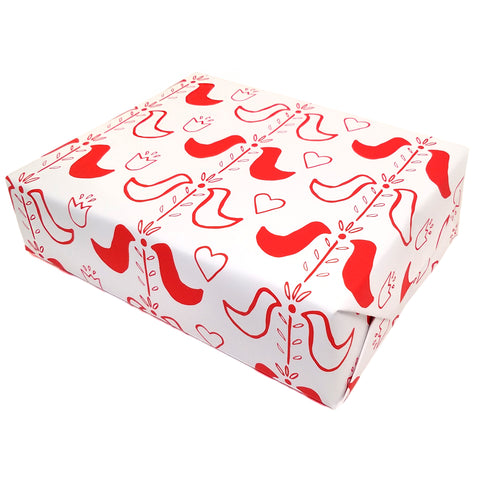 Red Modern Folk Gift Wrap