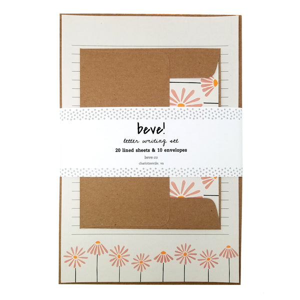 Coneflower Letter Writing Stationery Set