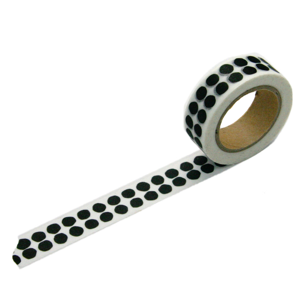 Black Double Dot Washi Tape