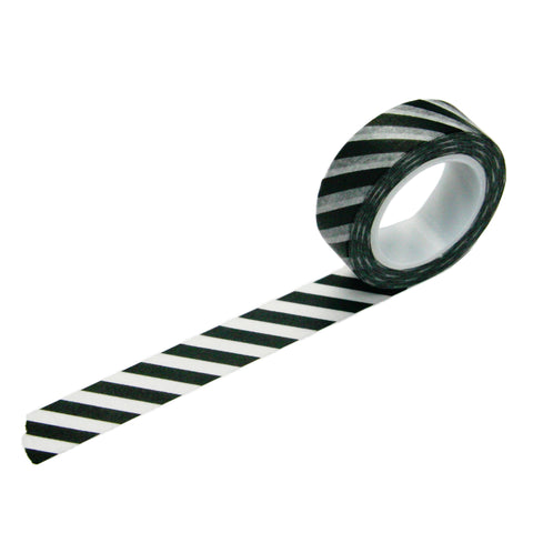 Black Diagonal Stripe Washi Tape