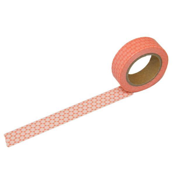 Coral Geometric Washi Tape